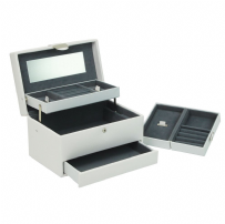 Dulwich Designs 70982 Medium White Autotray Jewellery Box